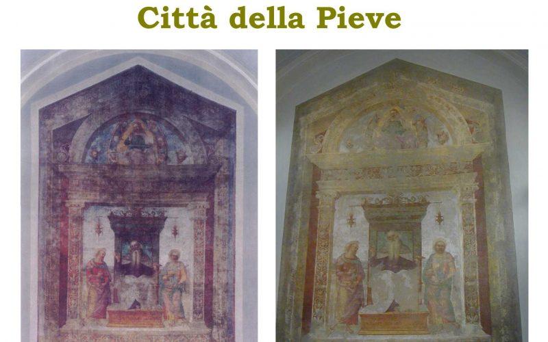 """Restauro di un'opera: """"Sant'Antonio Abate tra i Santi Marcello e Paolo"""" Chiesa di San Pietro Città della Pieve"""