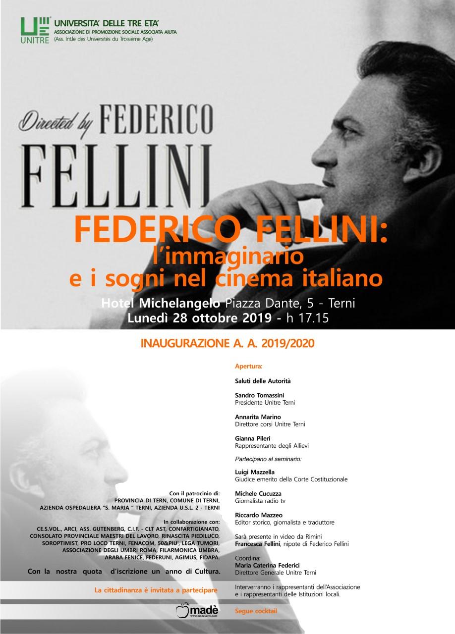 Unitre Terni inaugura i corsi con l'omaggio a Federico Fellini