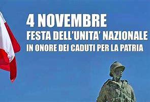 CELEBRAZIONI PER IL 4 NOVEMBRE, GIORNATA DELL'UNITA' NAZIONALE