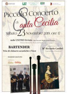 """All'Unitre di Orvieto il """"Piccolo concerto di Santa Cecilia"""""""