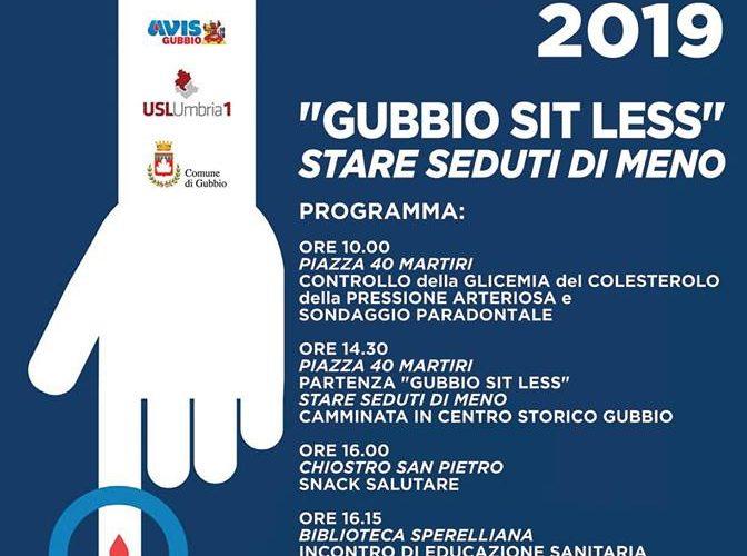 """""""GUBBIO SIT LESS – STARE SEDUTI DI MENO"""""""