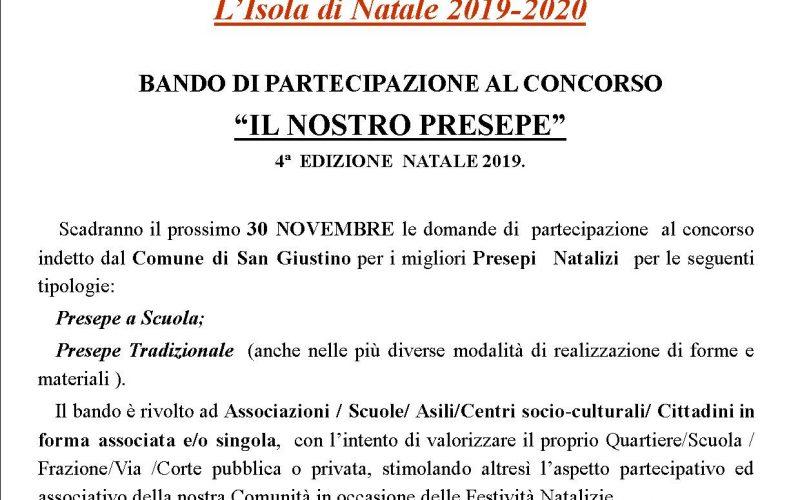 """BANDO DI CONCORSO """"IL NOSTRO PRESEPE"""" –  4^ EDIZIONE"""