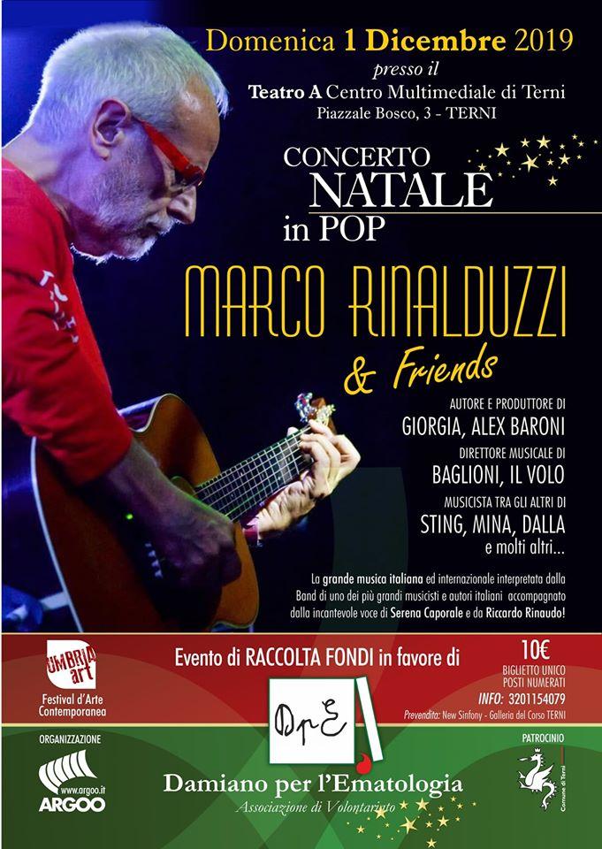 Marco Rinalduzzi suona per l'associazione Damiano per l'Ematologia. Il concerto permetterà lo studio delle malattie oncoematologiche pediatriche