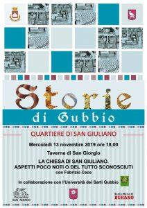 """NUOVO APPUNTAMENTO CON """"STORIE DI GUBBIO"""""""
