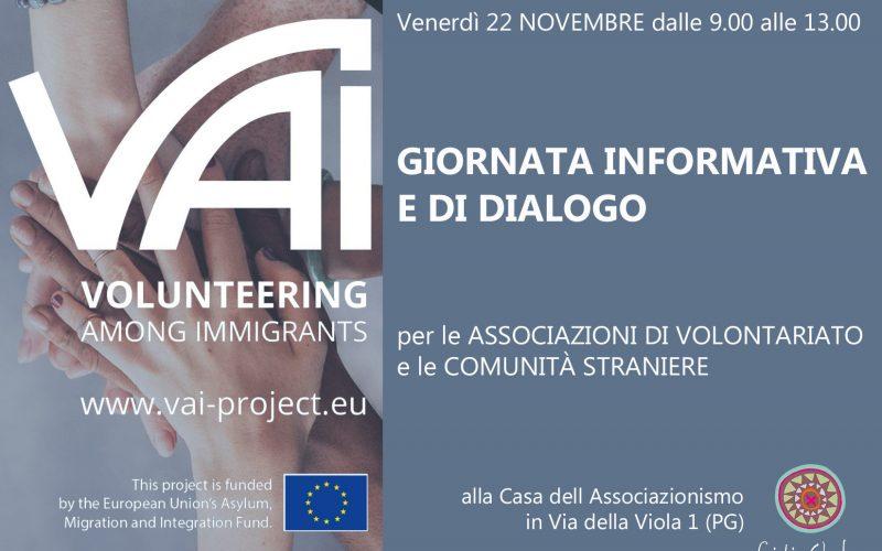 Progetto VAI, giornata informativa e di dialogo per le associazioni di volontariato e le comunità straniere