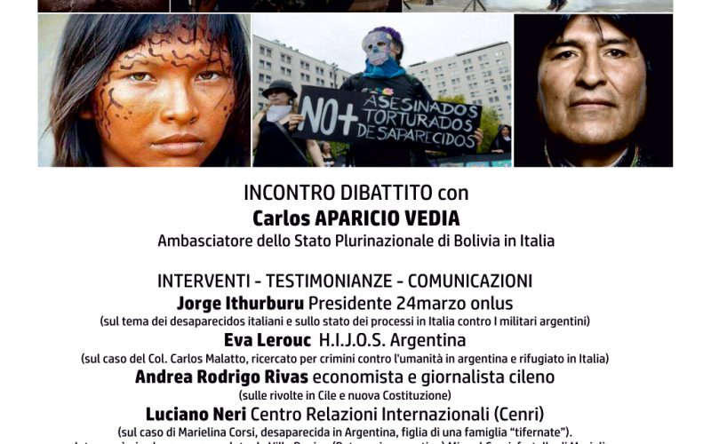 """A CITTA' DI CASTELLO INCONTRO CON L'AMBASCIATORE BOLIVIANO E CENA DI SOLIDARIETÀ PER """"24 MARZO ONLUS"""""""