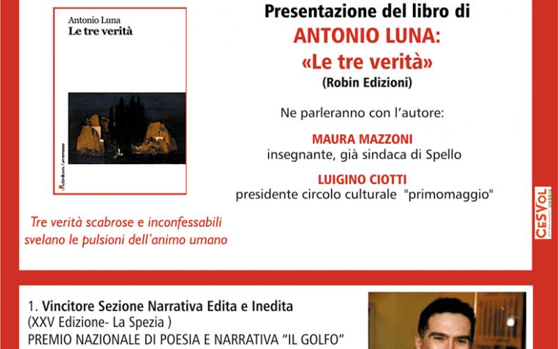 """PRESENTAZIONE LIBRO """"LE TRE VERITA'"""""""