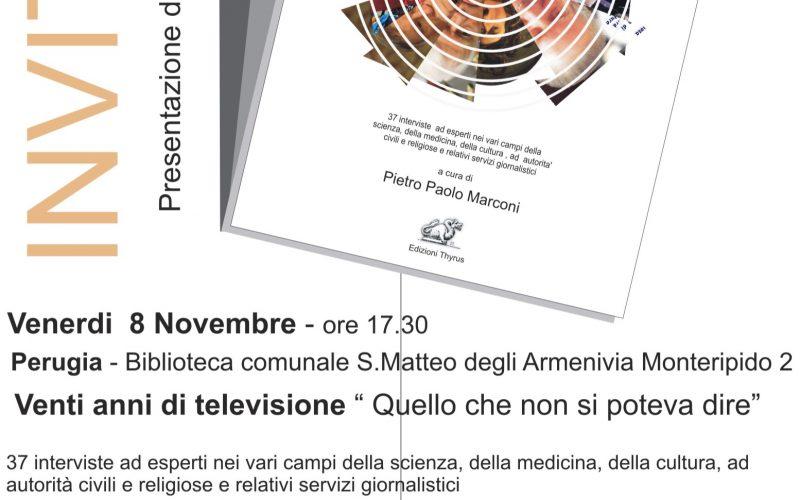 """PRESENTAZIONE LIBRO """"VENTI ANNI DI TELEVISIONE"""""""