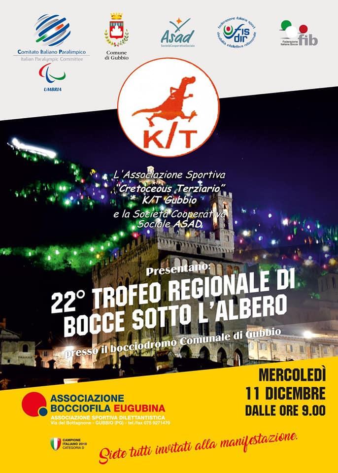 """22° """"TROFEO REGIONALE DI BOCCE SOTTO L'ALBERO"""" A GUBBIO"""