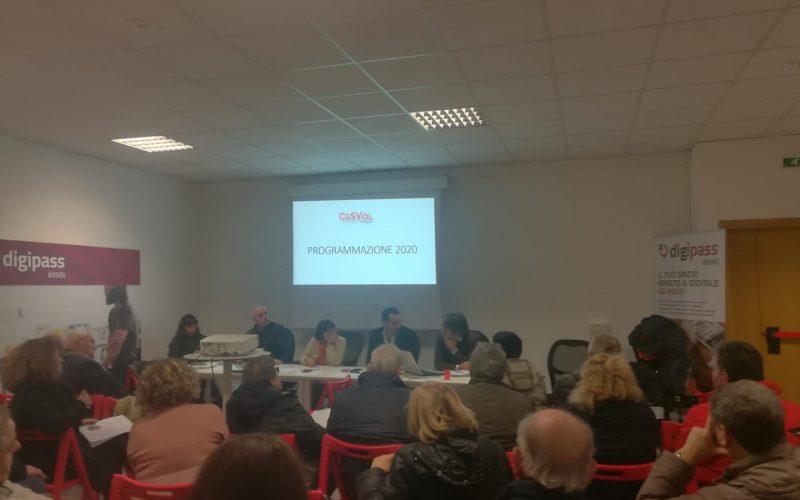 Programmazione e bilancio di previsione 2020: l'Assemblea regionale dei delegati del Cesvol Umbria approva all'unanimità.
