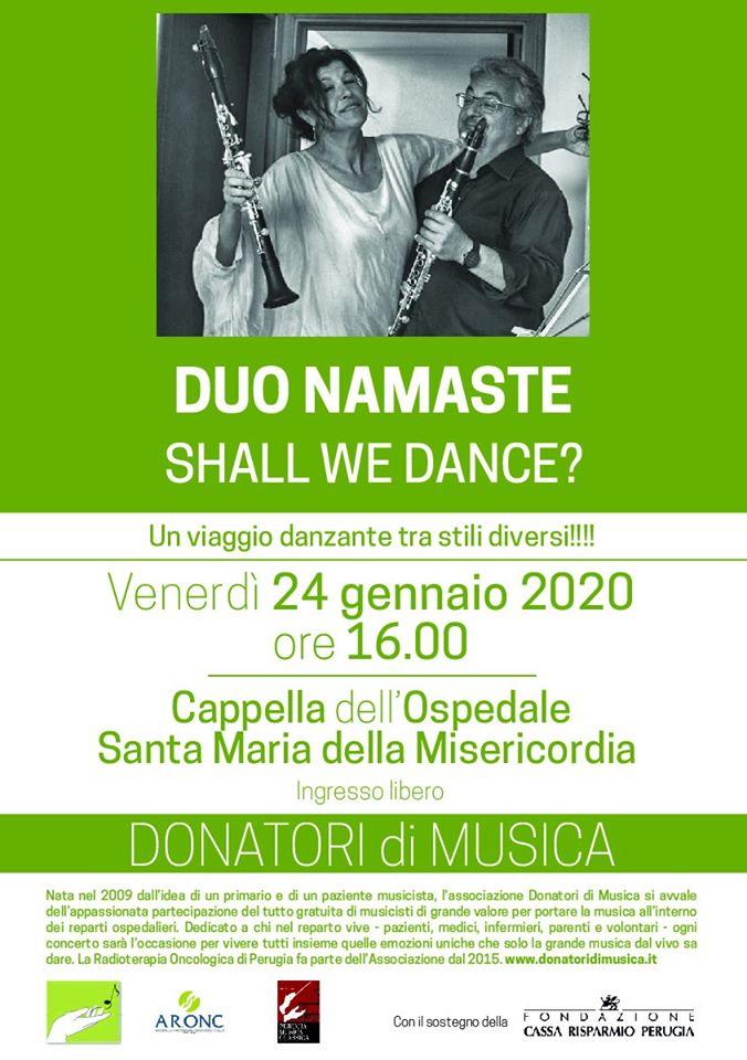 CONCERTO DEL Duo Namasté ALL'OSPEDALE DI PERUGIA, DONATORI DI MUSICA AI PAZIENTI