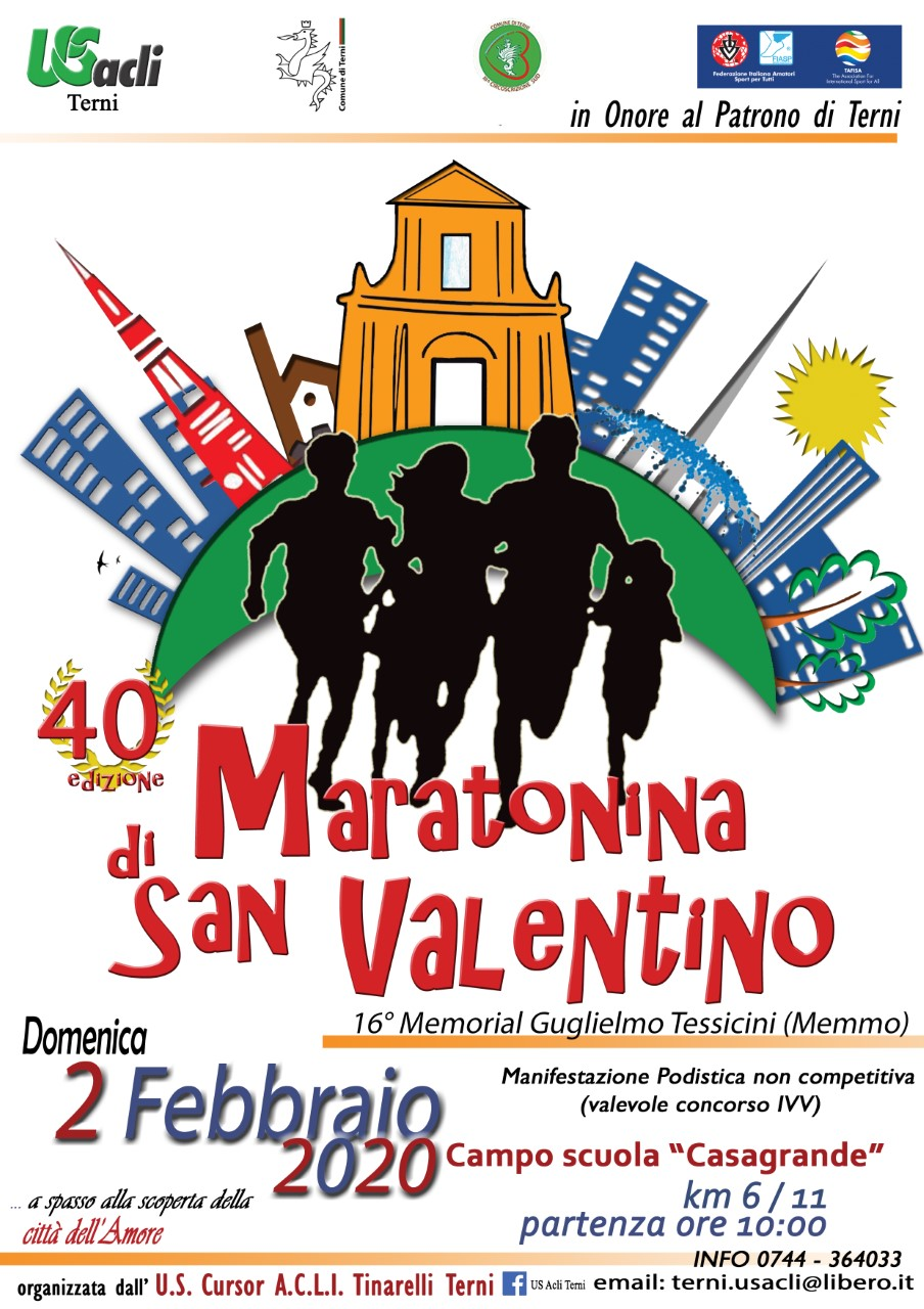 La Maratonina di San Valentino compie 40 anni.