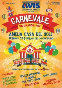 """""""Carnevale..ogni donazione vale!"""" Ad Amelia la festa di Avis comunale """"Gianni Gonella"""""""