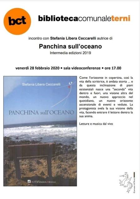 """""""Una panchina affacciata sull'oceano"""": In Bct l'incontro con Stefania Libera Ceccarelli"""