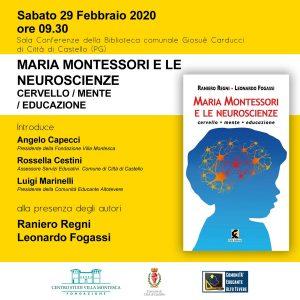 """PRESENTAZIONE LIBRO """"MARIA MONTESSORI E LE NEUROSCIENZE – CERVELLO MENTE EDUCAZIONE"""""""
