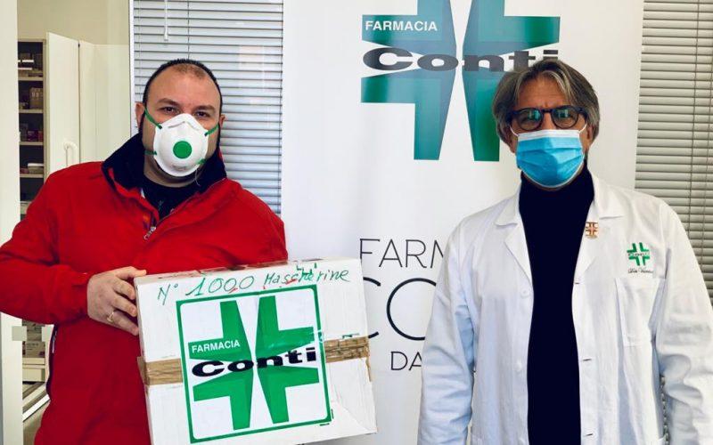 Emergenza coronavirus: La farmacia Conti dona mille mascherine all'ospedale di Terni