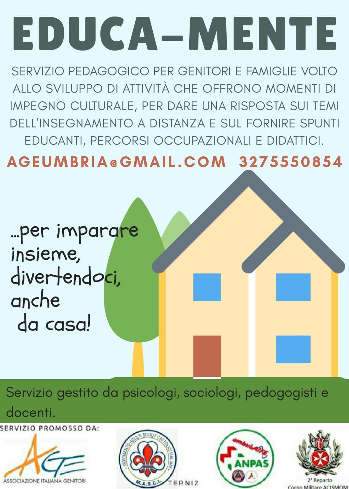 Educa-Mente, il progetto di Age Umbria per bambini e giovani adolescenti