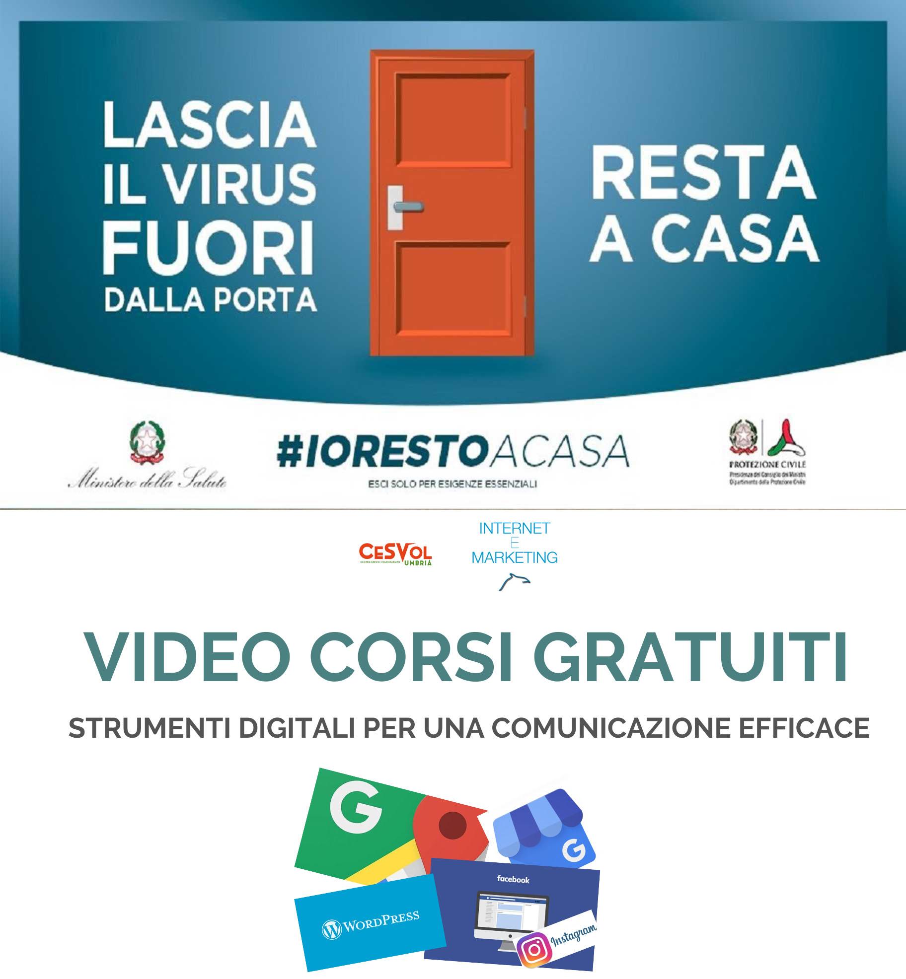 #iorestoacasa e mi formo on line, disponibili 18 video lezioni gratuite