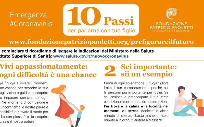 #Emergenza Covid -19: laFondazione Patrizio Paolettiaiuta i genitori a comunicare nel modo giusto con i bambini