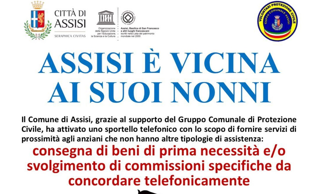 Il Comune di Assisi non abbandona i suoi nonni