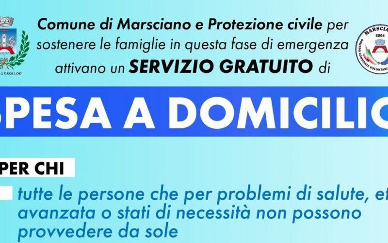 Spesa a domicilio, servizio gratuito da Comune di Marsciano e Protezione Civile