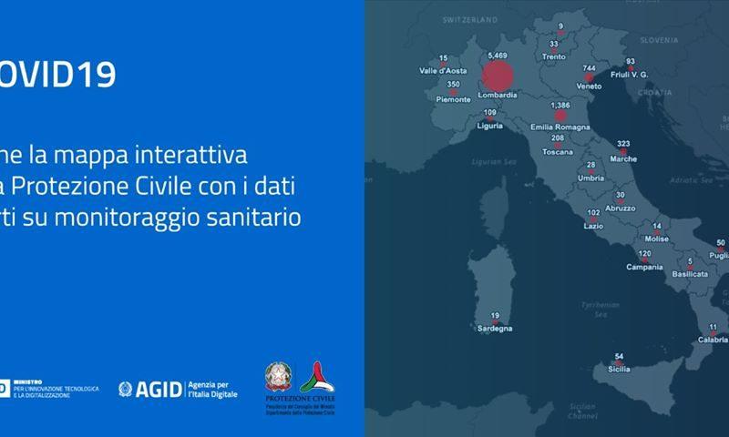 CONTAGI CORONAVIRUS, ONLINE MONITORAGGIO SANITARIO IN TUTTA ITALIA