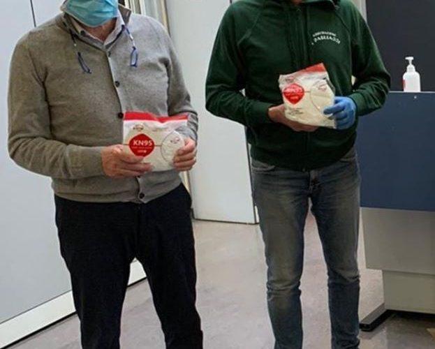 I Pagliacci e Intermana Nahars consegnano le prime 300 mascherine all'ospedale di Terni