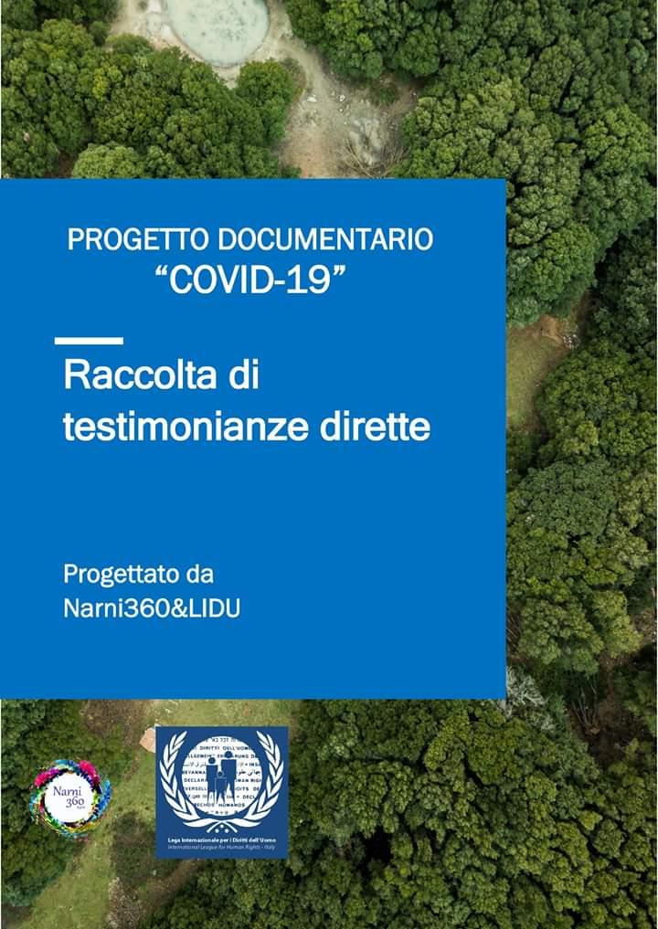Covid-19: Un docu-film che racconta le esperienze di volontari e associazioni. Un progetto di Narni360 e Lidu