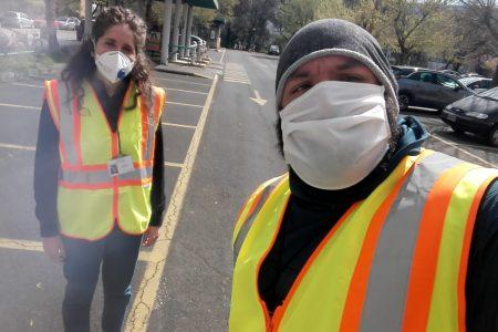 """Elena e Matteo, volontari Auser Terni in campo per l'emergenza Covid-19: """"Basta una parola per dare un senso di sicurezza"""""""