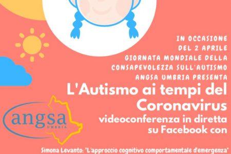"""""""L'autismo ai tempi del coronavirus"""": Angsa Umbria Onlus celebra il 2 aprile con una videoconferenza e due eventi social e smart"""