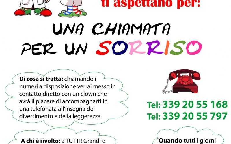 Coronavirus, una chiamata per un sorriso: i clown di Vip Perugia alla cornetta