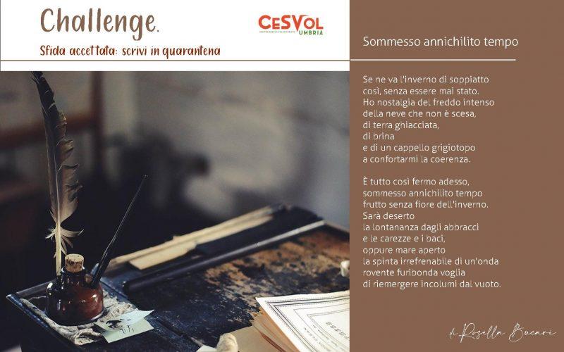 #Challenge Sfida accettata: Scrivi in quarantena