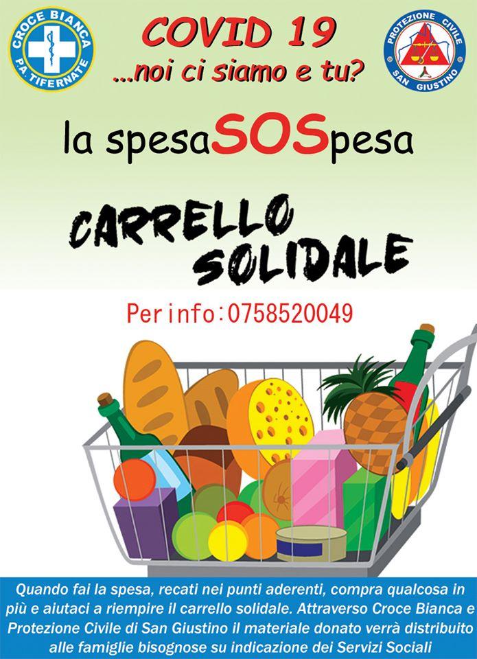 SPESA SOLIDALE – CARRELLO SOLIDALE A SAN GIUSTINO