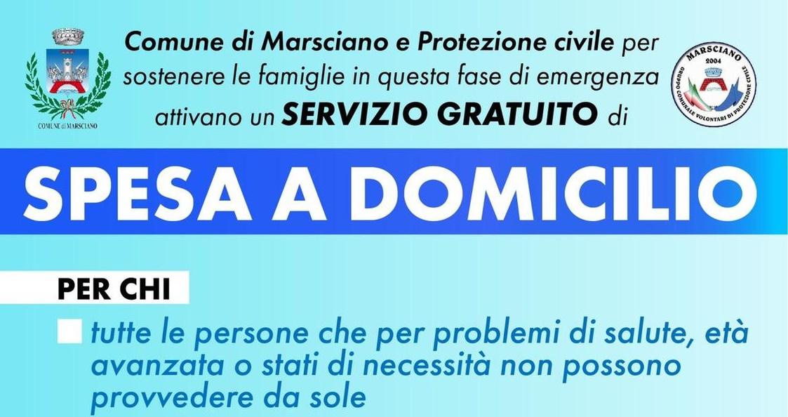 Spesa a domicilio a Marsciano