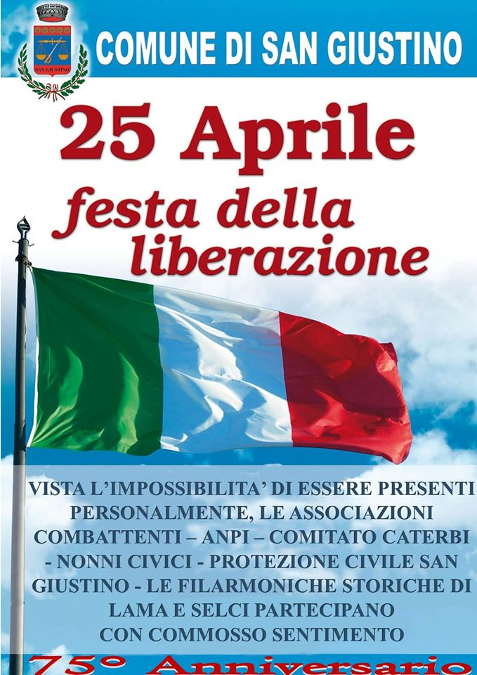 SAN GIUSTINO – 25 APRILE, FESTA DELLA LIBERAZIONE