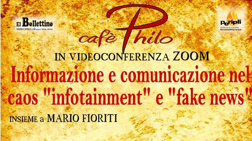 """VIDEOCONFERENZA """"INFORMAZIONE E COMUNICAZIONE NEL CAOS INFOTAINMENT E FAKE NEWS"""""""