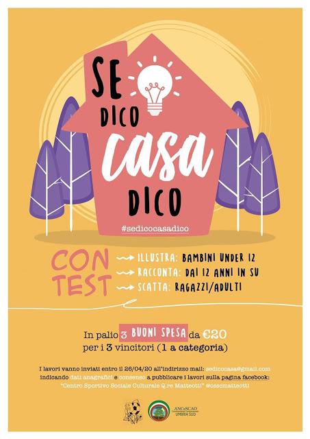 #sedicocasadico: Dal Centro Sociale Matteotti un contest per tutta la famiglia