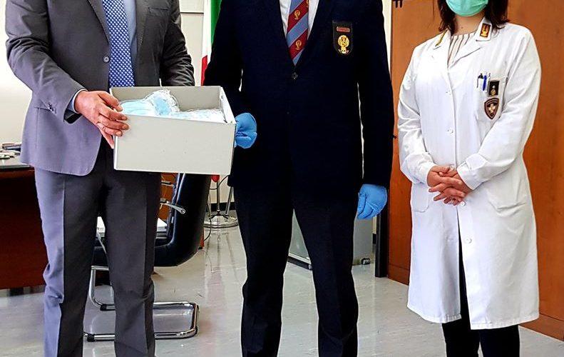 L'Anps Terni dona 500 mascherine chirurgiche al questore, Roberto Massucci