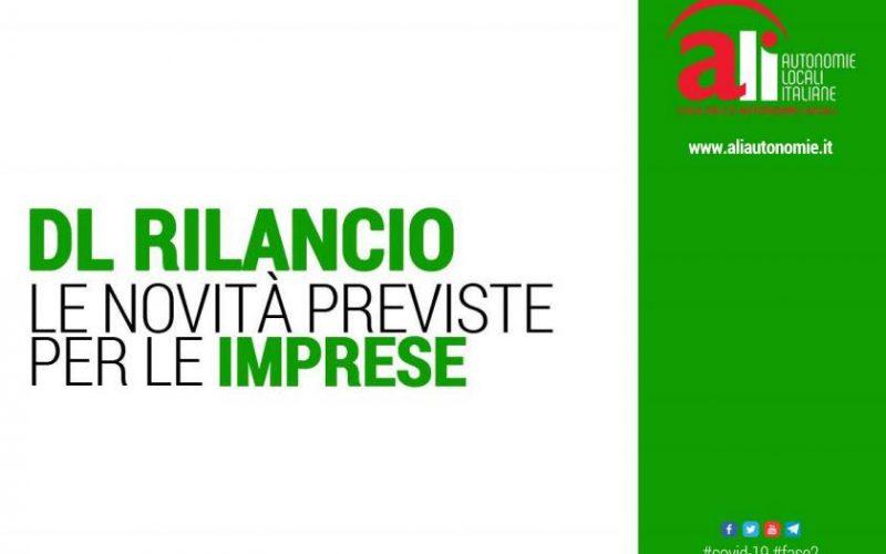 DECRETO RILANCIO – LE NOVITÀ PREVISTE PER LE IMPRESE