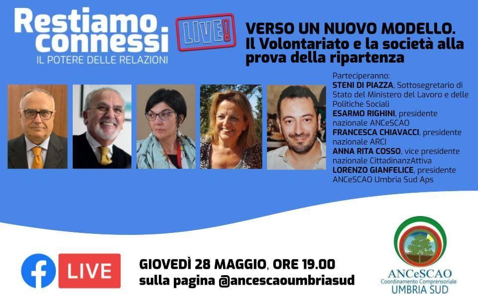 Il volontariato post Covid-19. Confronto in diretta facebook sulla pagina di Ancescao Umbria sud