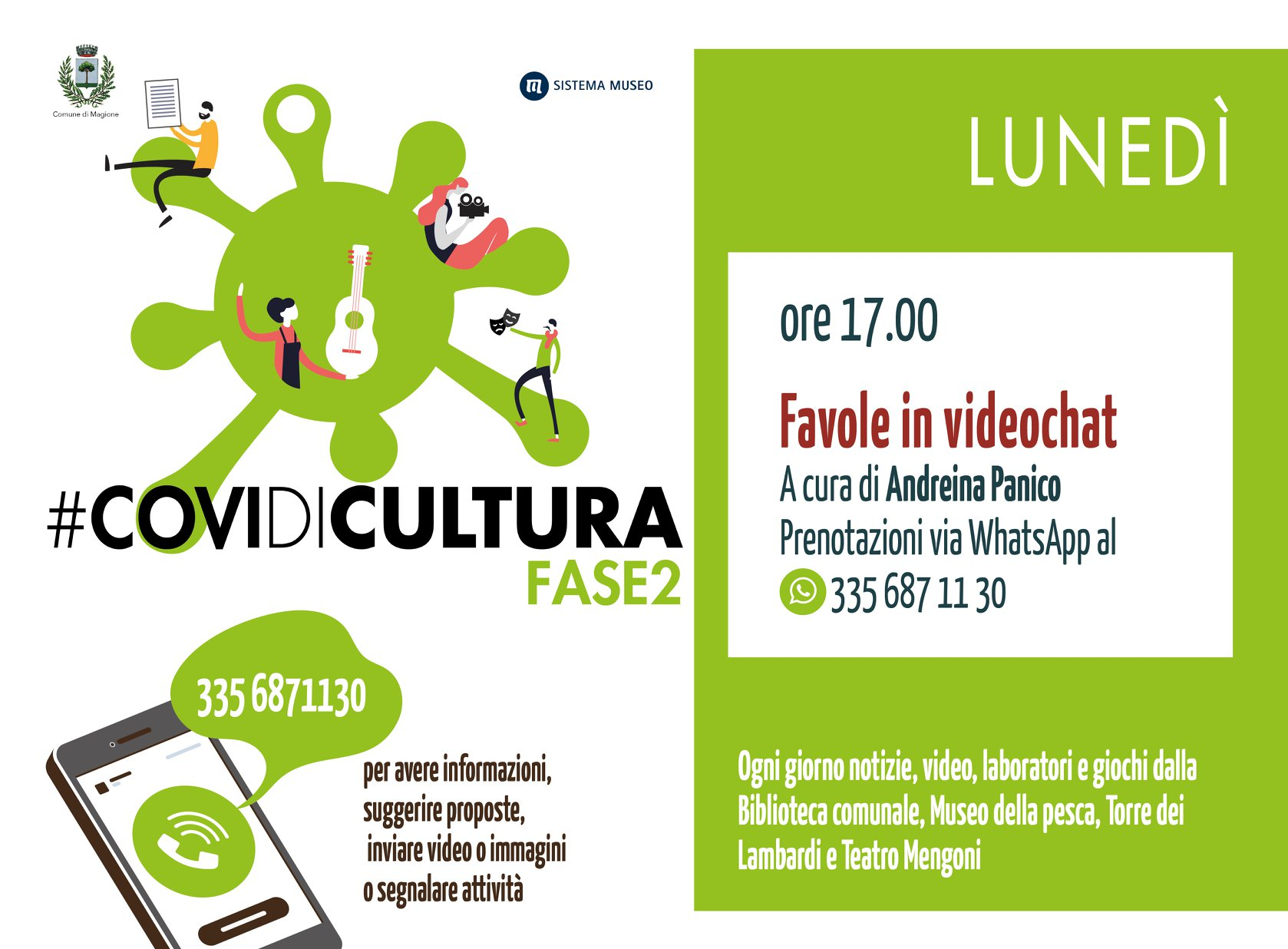 PROGETTO #COVIDICULTURA, UN SOSTEGNO ONLINE A BIBLIOTECHE, TEATRI, MUSEI