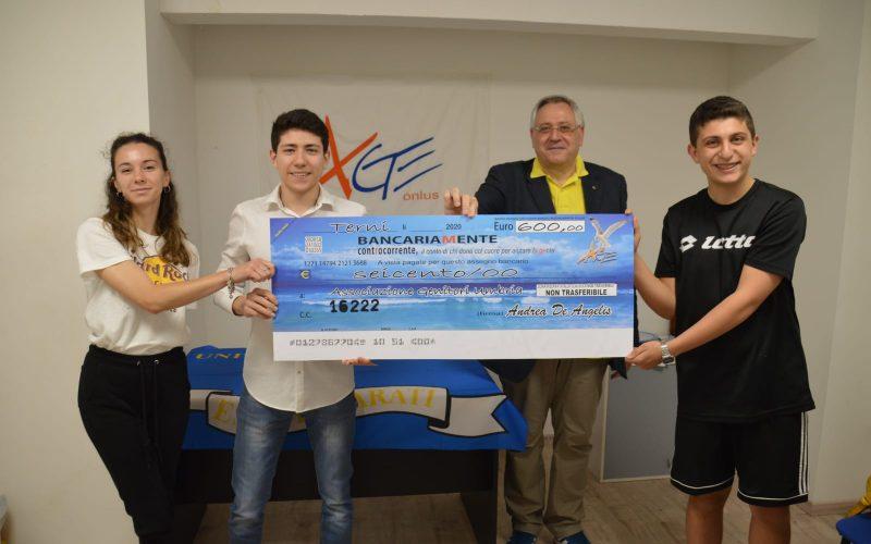 Andrea dona i soldi delle vacanze per progetti di solidarietà. Il grande cuore di uno studente ternano