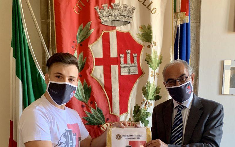 IL SINDACO RICEVE IL PRESIDENTE DEL LEO CLUB CITTÀ DI CASTELLO