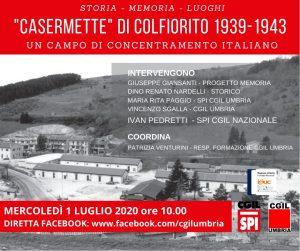 """INCONTRO """"CASERMETTE DI COLFIORITO"""" 1939-1943 – UN CAMPO DI CONCENTRAMENTO ITALIANO"""""""