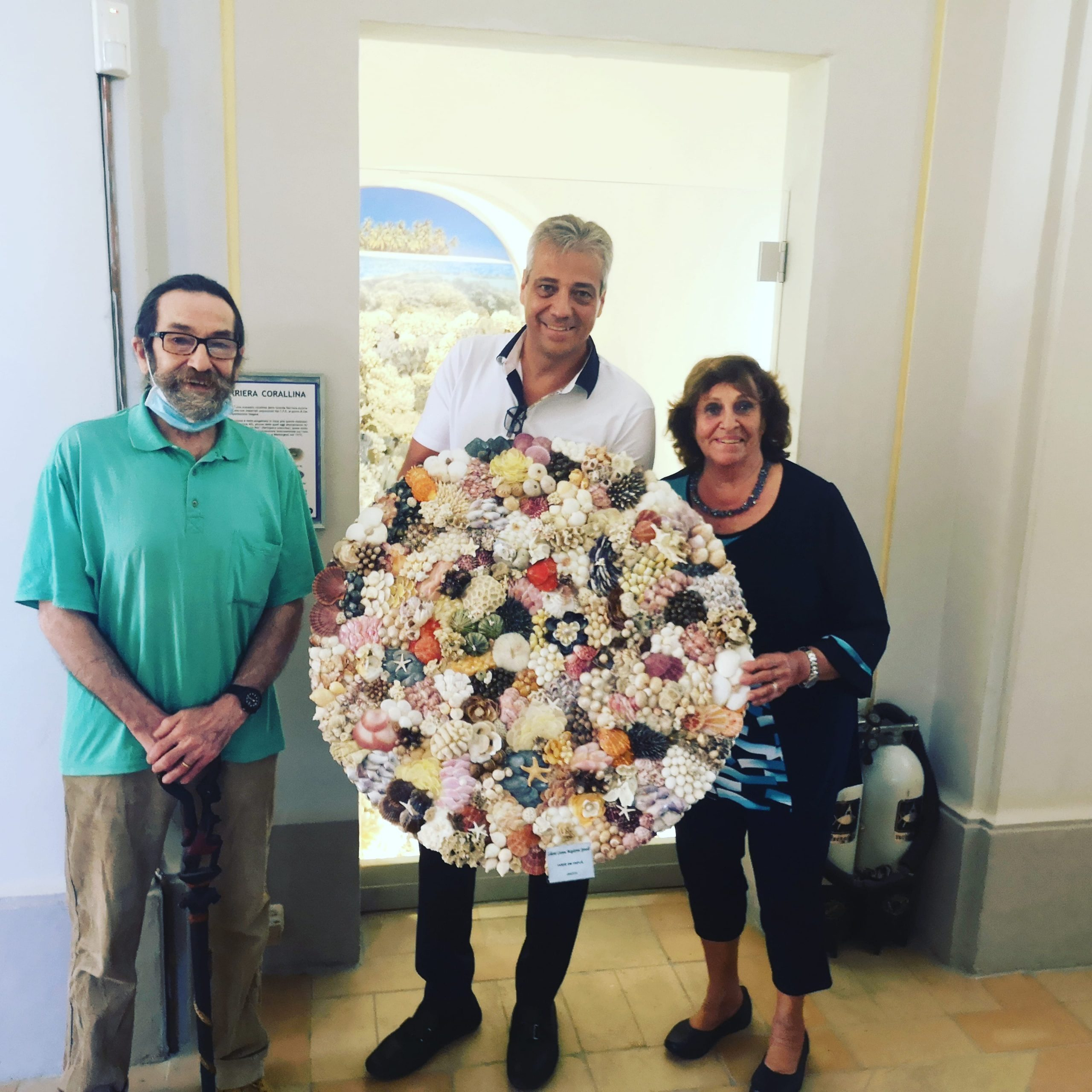DAL BRASILE PER DONARE UN'OPERA D'ARTE AL MUSEO MALAKOS