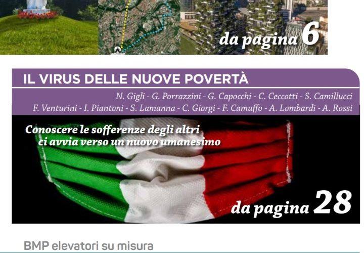 """""""Il virus delle nuove povertà"""", lo speciale del mensile La Pagina dedicato al volontariato ai tempi del Covid"""