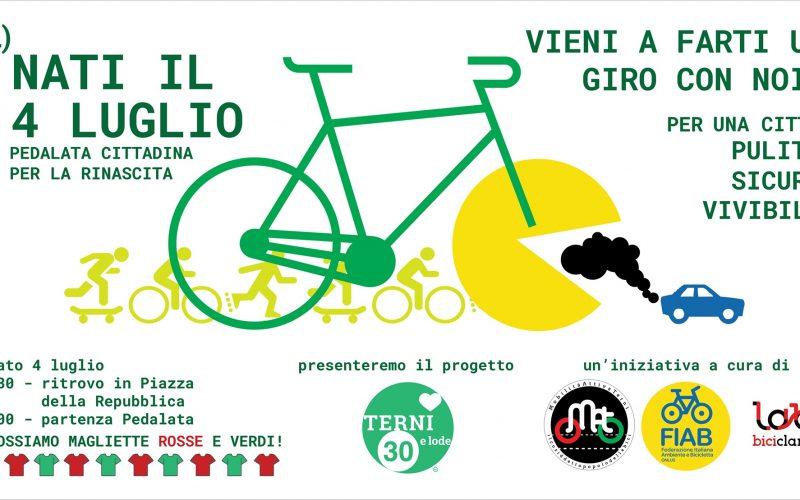 """(Ri) Nati il 4 luglio: Pedalata cittadina per far conoscere il progetto """"Terni30elode"""""""