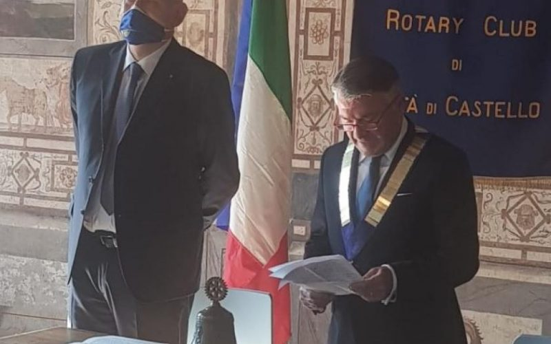 IL DOTTOR ALESSANDRO LEVEQUE NUOVO PRESIDENTE DEL ROTARY CLUB CITTÀ DI CASTELLO