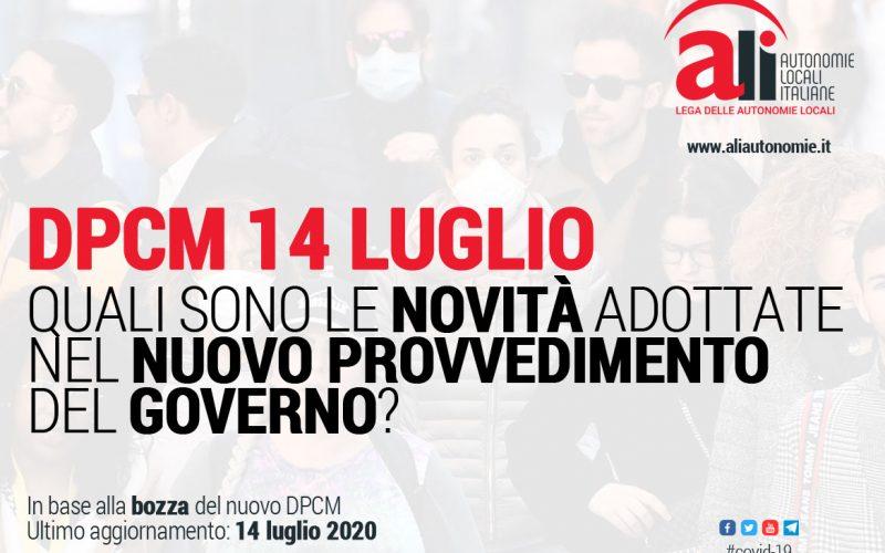 PRESENTATO IL NUOVO DPCM CHE PROROGA LE MISURE ANTICOVID AL 31 LUGLIO. ECCO LE SCHEDE ALI (AUTONOMIE LOCALI ITALIANE)