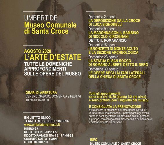 """TUTTE LE DOMENICHE DI AGOSTO AL MUSEO SANTA CROCE APPUNTAMENTO CON """"L'ARTE D'ESTATE"""""""